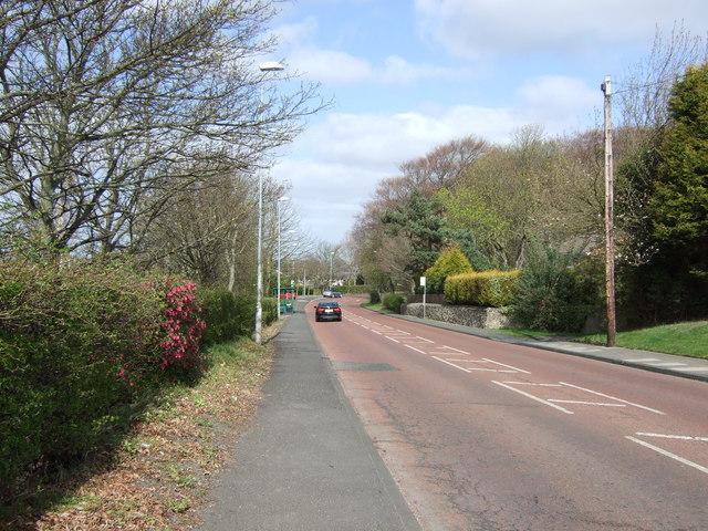Fellside Road towards Whickham