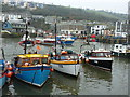 SX0144 : Mevagissey Harbour on a dull Spring day by Ruth Sharville