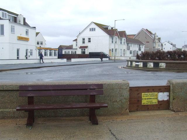 Flood defence at Seaford