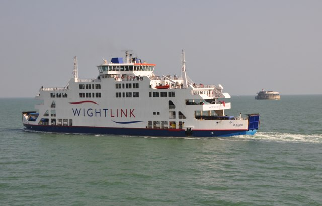 The Solent : St Clare Wight Link Ferry