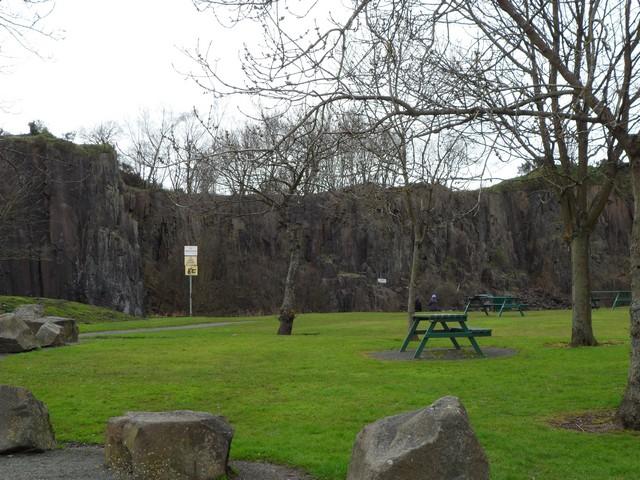 Picnic area at disused Auchinstarry Quarry