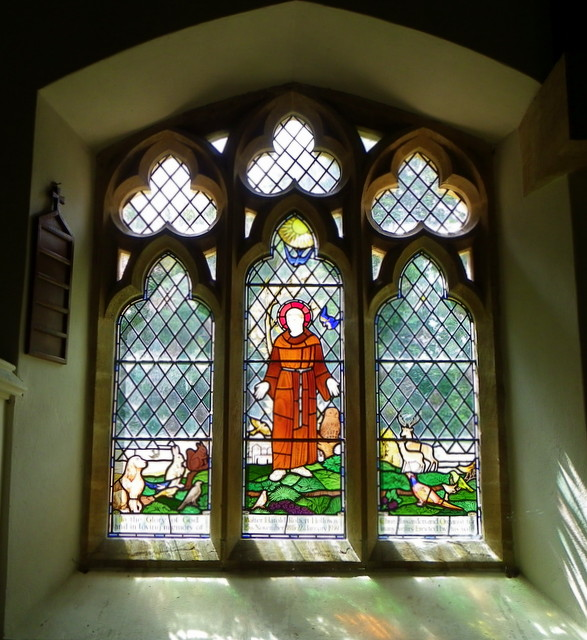 Stained glass window, St Mary's Church