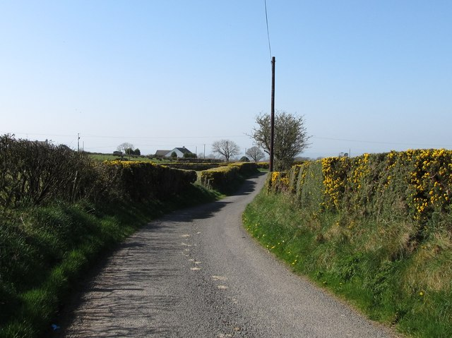 The angular southern end of Knock Road