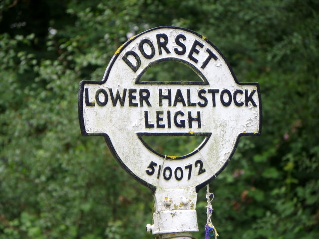 Finger post, Higher Halstock Leigh