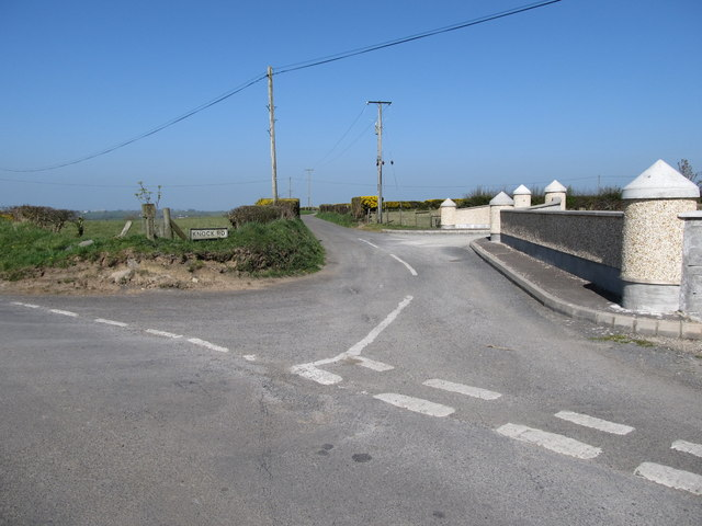 The southern end of Knock Road