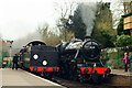 SU5832 : Locomotives at Alresford, Hampshire by Peter Trimming