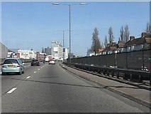 TQ1883 : North Circular Road at Brent Crescent by Peter Whatley