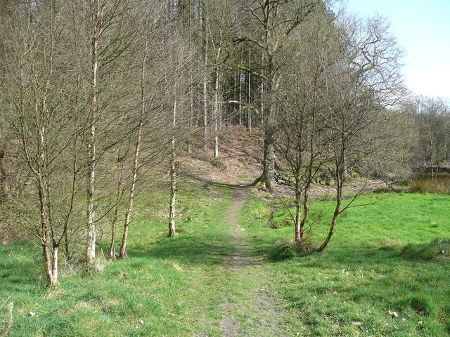 Footpath towards Round Hill Wood