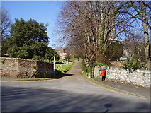 SX9392 : Entrance to St Michael and All Angels Churchyard by Anthony Vosper