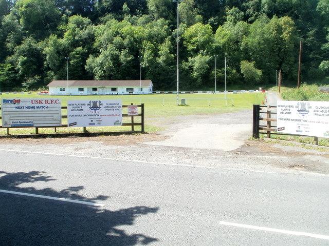 Entrance to Usk RFC