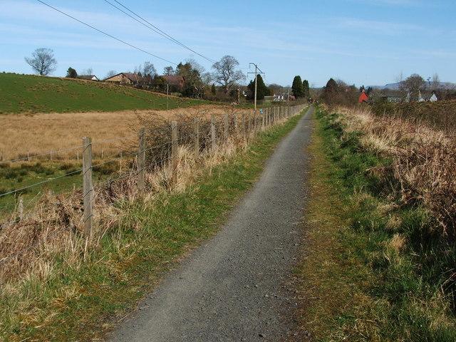 Cycle route near Croftamie