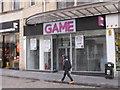 "SK3587 : Retail closure - ""Game"" in Fargate, Sheffield by David Hawgood"