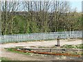 SE3026 : Crane base alongside the railway line by Christine Johnstone