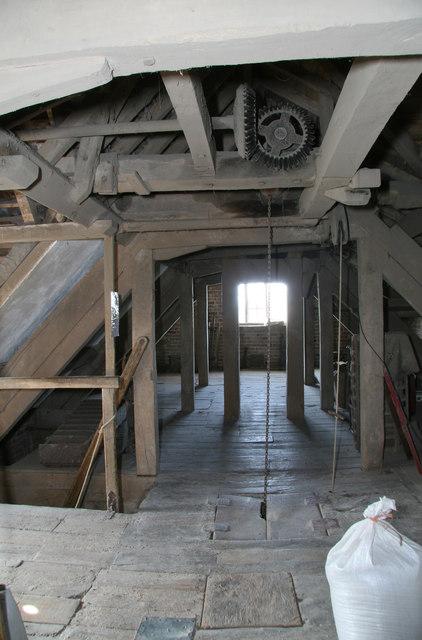 Charlecote Mill - the bin floor