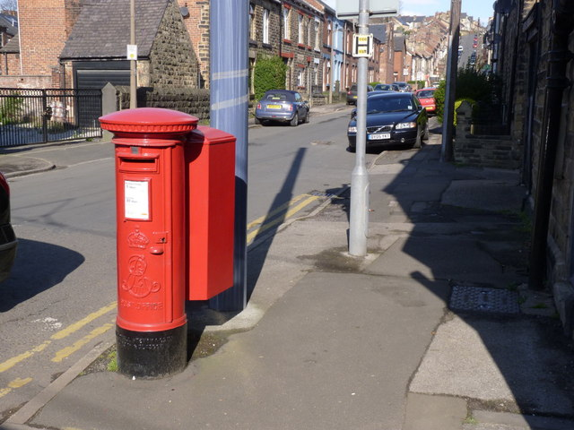 Oakland Road postbox (ref. S6 318)