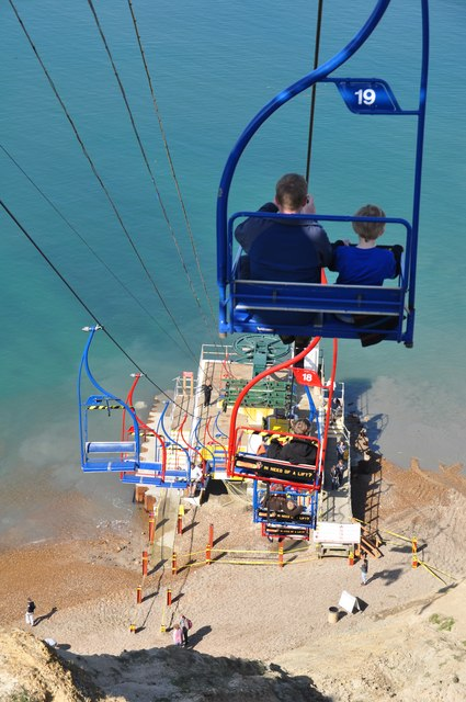 South Wight Chair Lift To Alum Bay 169 Lewis Clarke
