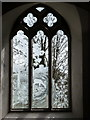 SZ3299 : Boldre: engraved window in the church by Chris Downer