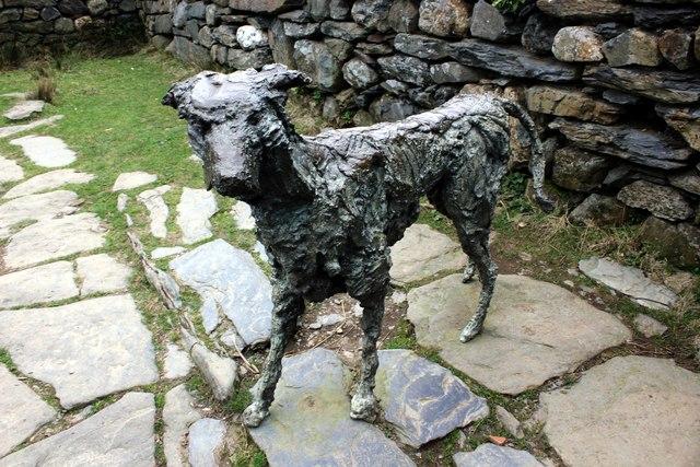 Bronze Statue of Gelert at Beddgelert
