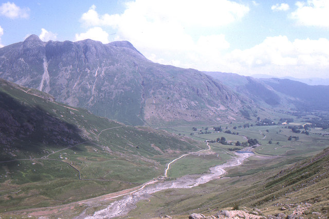 Looking down Great Langdale, from the path to Crinkle Crags