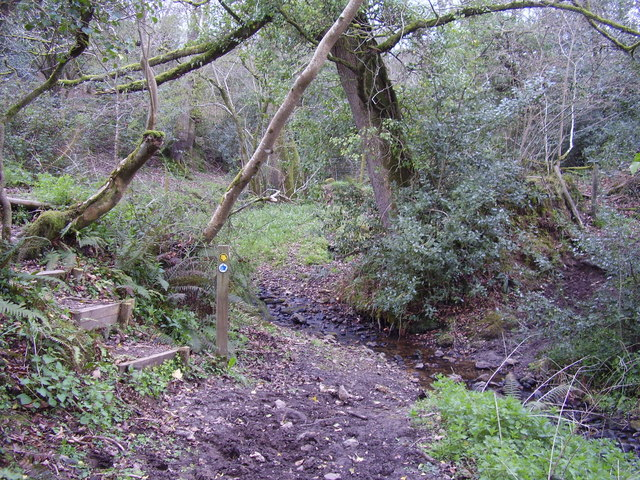A small ford near Lincombe