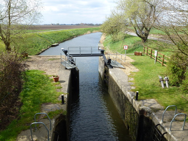 Lock on The River Nene (Old course) near Upwell