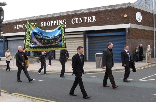 Marchers at Newcastle Sinn Féin (Joe McCackard Cumann) Easter Parade