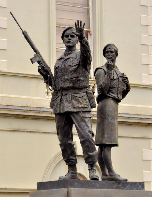 UDR memorial sculpture, Lisburn (1)