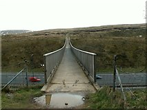 SD9814 : The Pennine Way Footbridge over the M62 by John Fielding