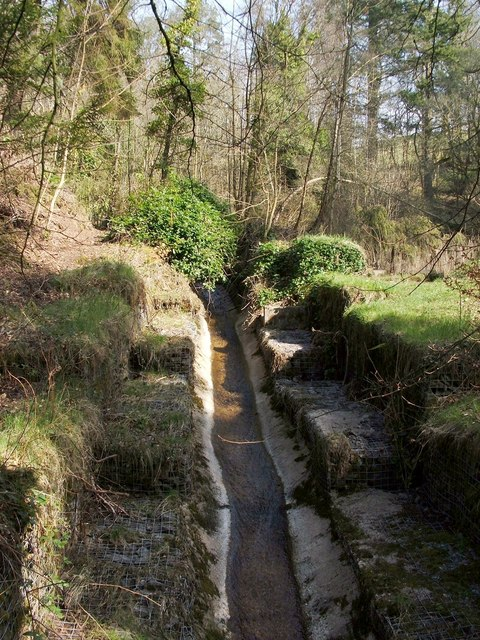 The channel of the Overtoun Burn