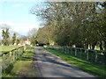 TF7918 : Driveway to Home Farm near West Acre, Norfolk by Richard Humphrey