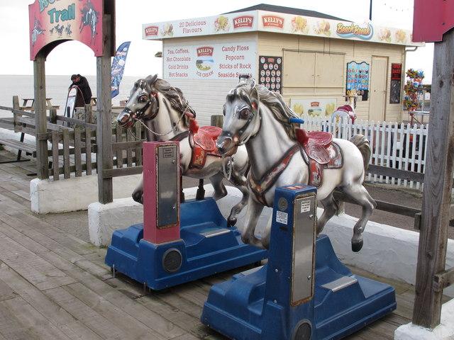 Seaside horse ride amusement