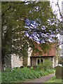 TM3961 : Porch of St.Mary Magdalene Church, Sternfield by Adrian Cable