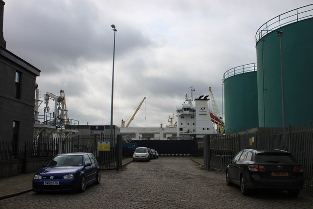 Access to the lifeboat station in Aberdeen harbour