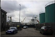 NJ9505 : Access to the lifeboat station in Aberdeen harbour by Roger Davies