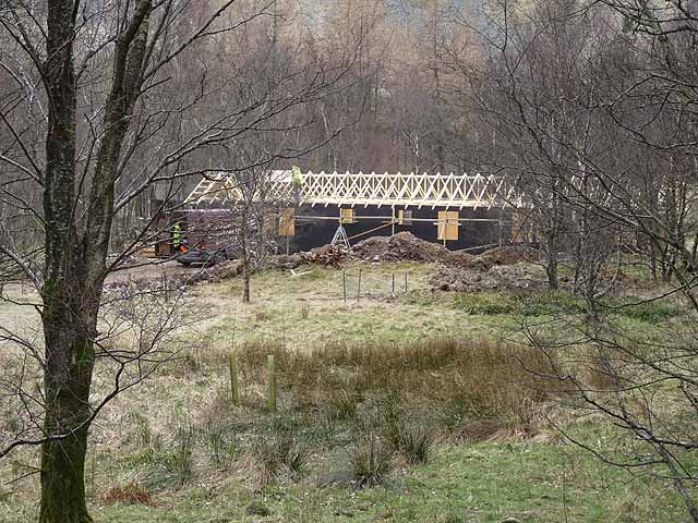 New Carn Dearg Mountaineering Club hut under construction
