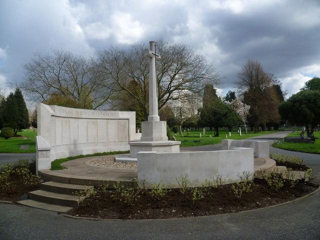 War memorial in Streatham Cemetery