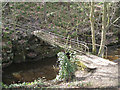 SK3089 : Footbridge for the path to Stannington by Robin Stott