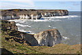 TA2570 : Chalk cliffs at Flamborough Head by Pauline E