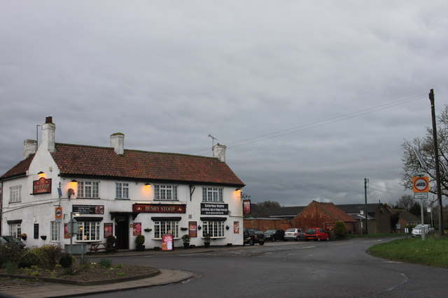 The Busby Stoop inn on a cold and wet Easter Monday 2012