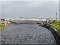J3731 : High water at the promenade footbridge by Eric Jones