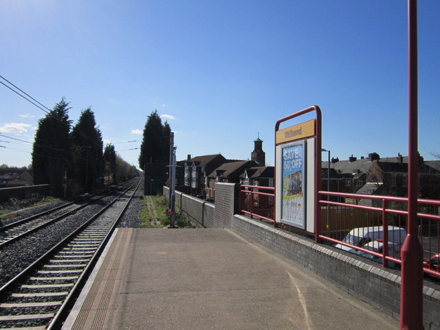 Looking west at Wallsend Metro Station