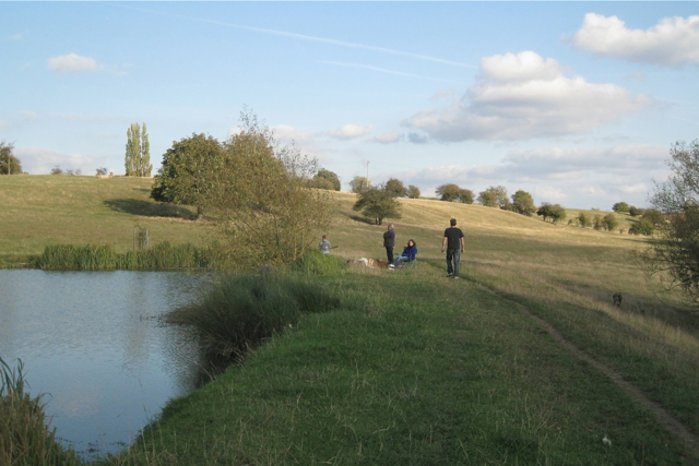Family fishing party near Newnham Hall