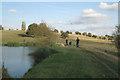 SP4477 : Family fishing party near Newnham Hall by Robin Stott