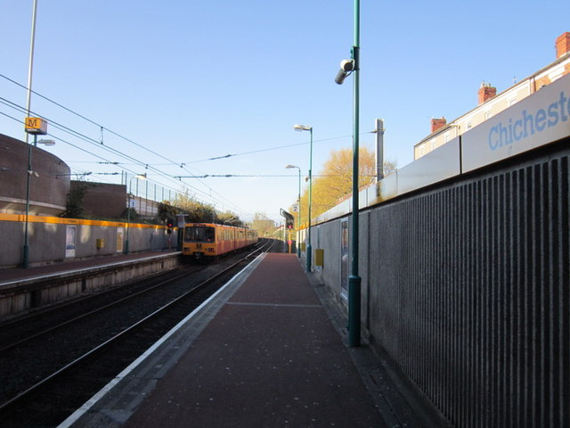Waiting for the Metro at Chichester Station