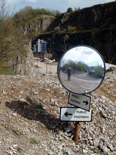 Mirror at bridleway crossing