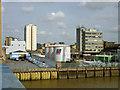 TQ2575 : Surviving waterside industry below Wandsworth Bridge by Robin Webster