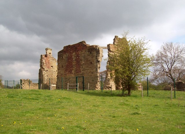 North Court Remains at Codnor Castle