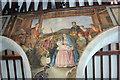 TQ5104 : The Nativity Mural, Berwick church by Julian P Guffogg