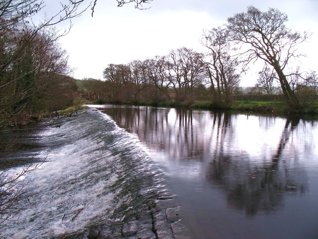 The weir at Summerbridge by Gordon Hatton