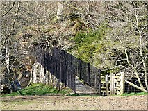 NY7962 : Old suspension bridge, Plankey Mill by Oliver Dixon